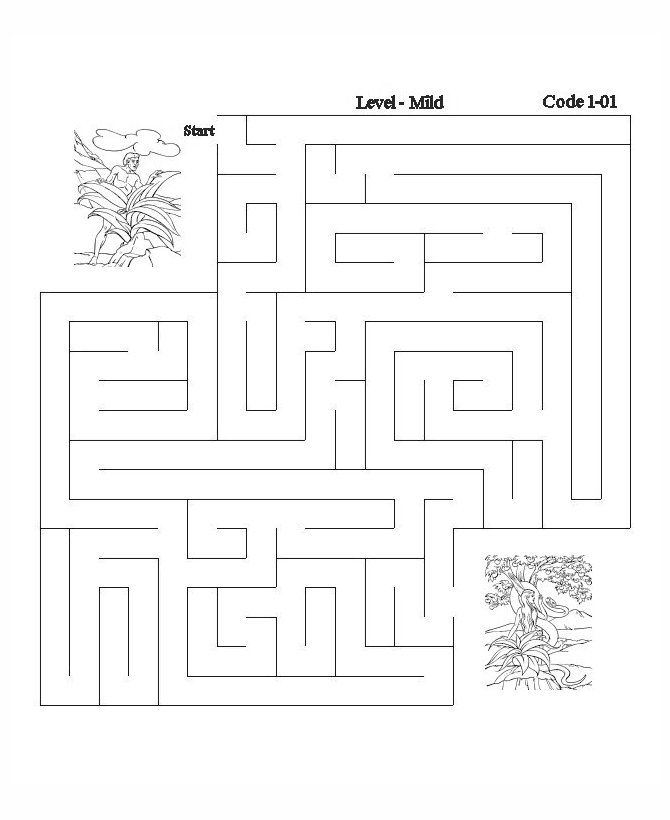 bible maze activity sheet adam and eve bible printables