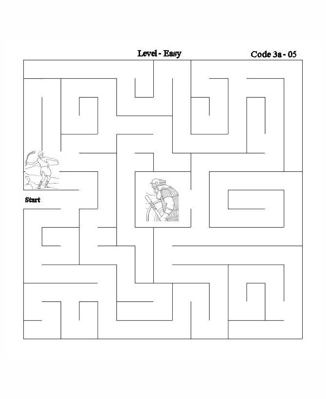picture about David and Goliath Printable Story referred to as Bible Maze Recreation Sheet - David and Goliath 2 Bible