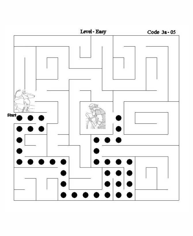 Bible Maze Activity Sheet answer - David and Goliath 2 | Bible ...