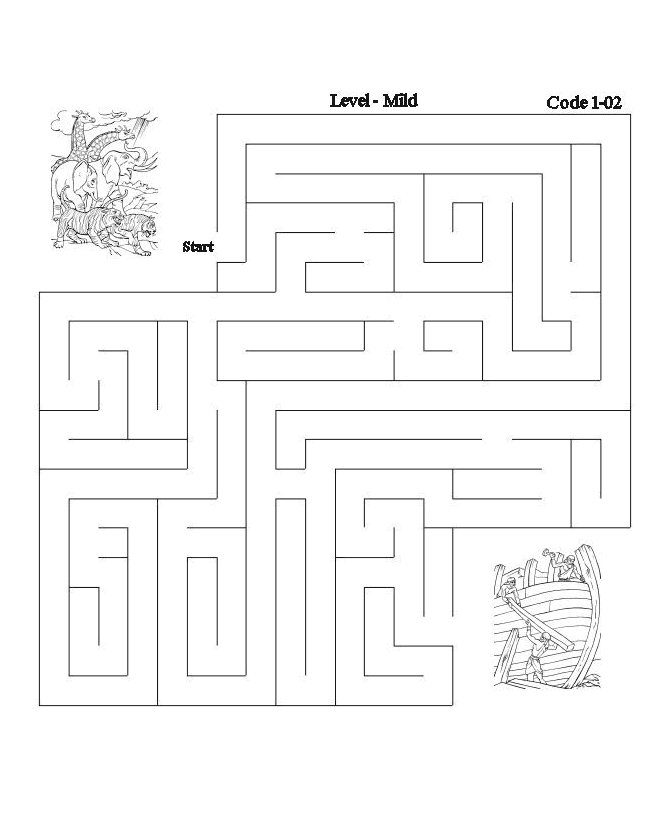 bible maze activity sheet noah and the ark bible printables