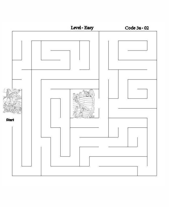 noah and the ark bible lesson activity maze