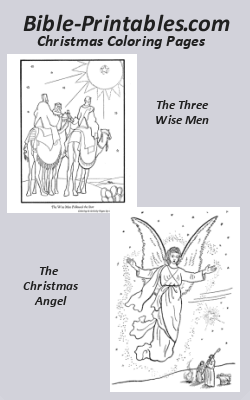 Bible Christmas Coloring Pages