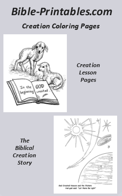 The Biblical Creation Story Genesis Bible Printables