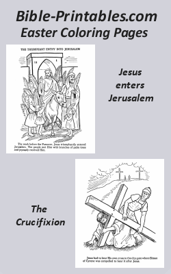 Bible Easter Coloring Pages