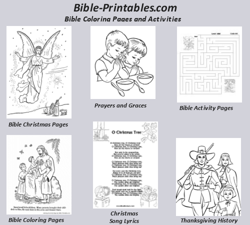 bible coloring and christian activity pages